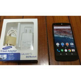 LG Google Nexus 5 2G/16G 4.95吋 支援4G LTE 800萬相機 四核心 指紋辨識