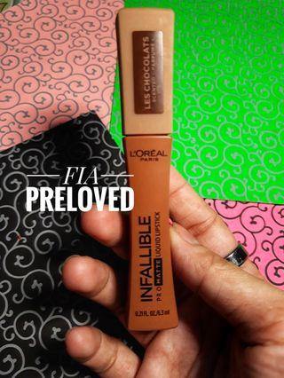 Loreal Paris - Infallible Pro Mate Liquid LipstickLes Chocolats Sweet Tooth Swatch