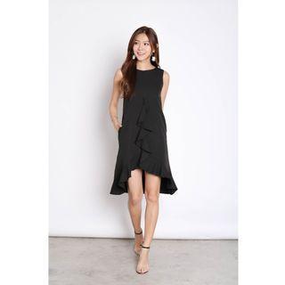 BNWT Topazette Myrle Ruffles Shift Dress in Black