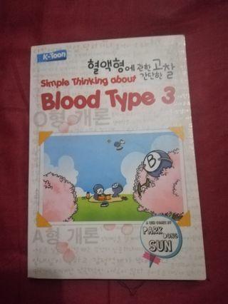 Buku golongan darah simple thinking about blood type 3