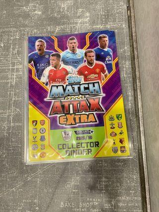 🚚 2015/16 Match Attax extra collector binder