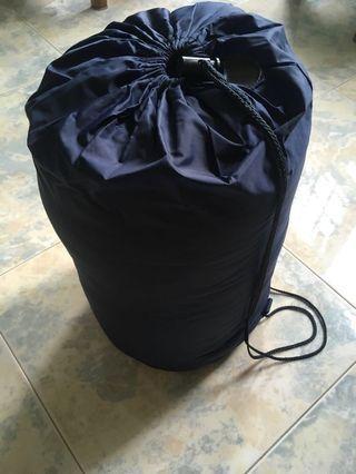 New zipped up sleeping bag for single used