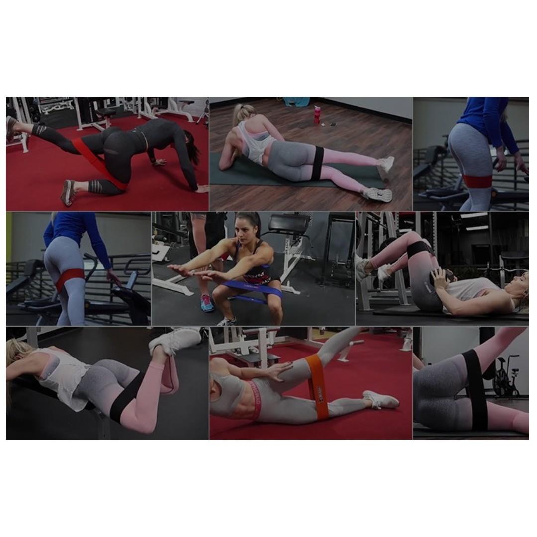 【全新*90/120磅*2色選擇】翹臀圈彈力帶健身男女深蹲阻力帶家用練臀部肌肉結實力量訓練彈力圈 Butt workout muscle training band