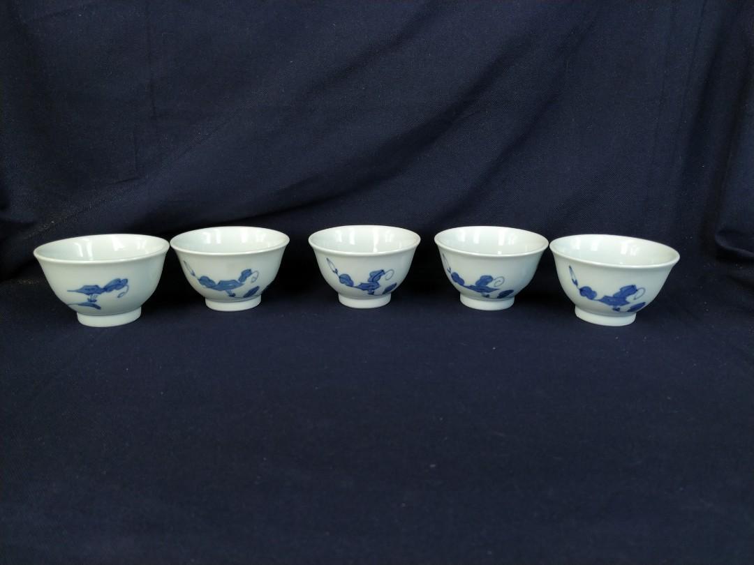 青花煎茶器套裝 (5杯 / 1壺)