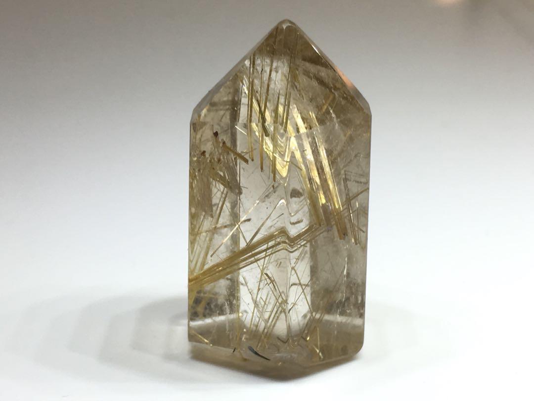 金髮晶 晶柱仔 18x15x35mm