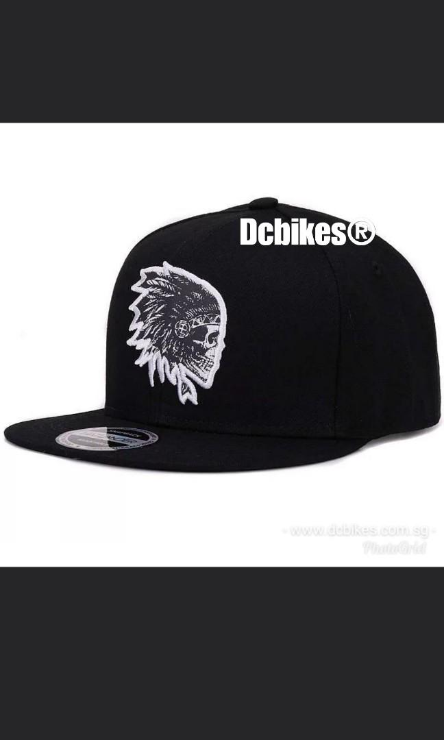 🆕! Indian Chief Skull Embroidery Snapback Stylo Trucker Cap
