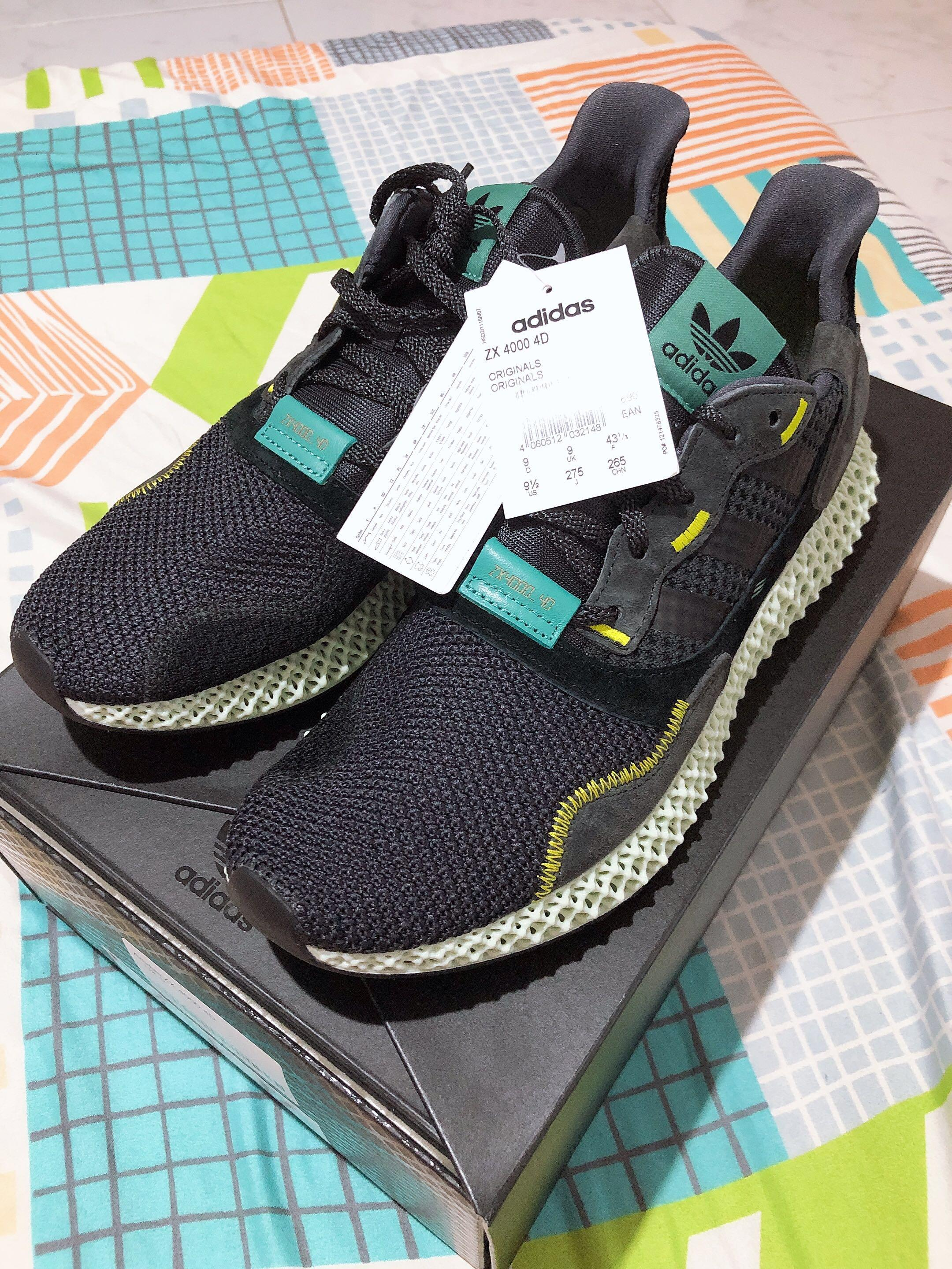 check out a331b c18d6 Adidas ZX 4000 4D US 9.5, Men's Fashion, Footwear, Sneakers ...