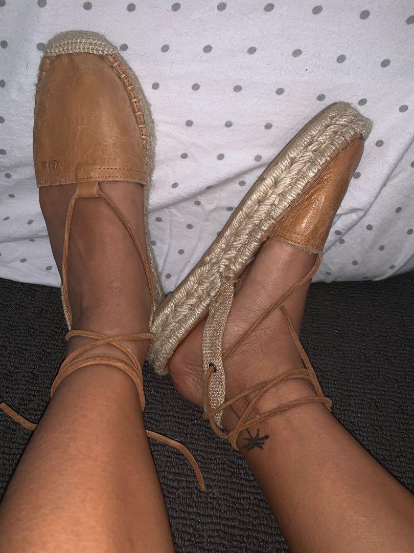 Alohas espadrille shoes (brown straps sandals)
