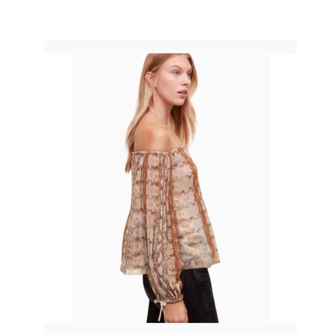 Aritzia Wilfred talence blouse in snake print size small
