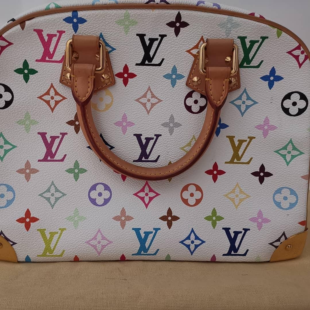 Authentic Louis Vuitton Multicolor Trouville White