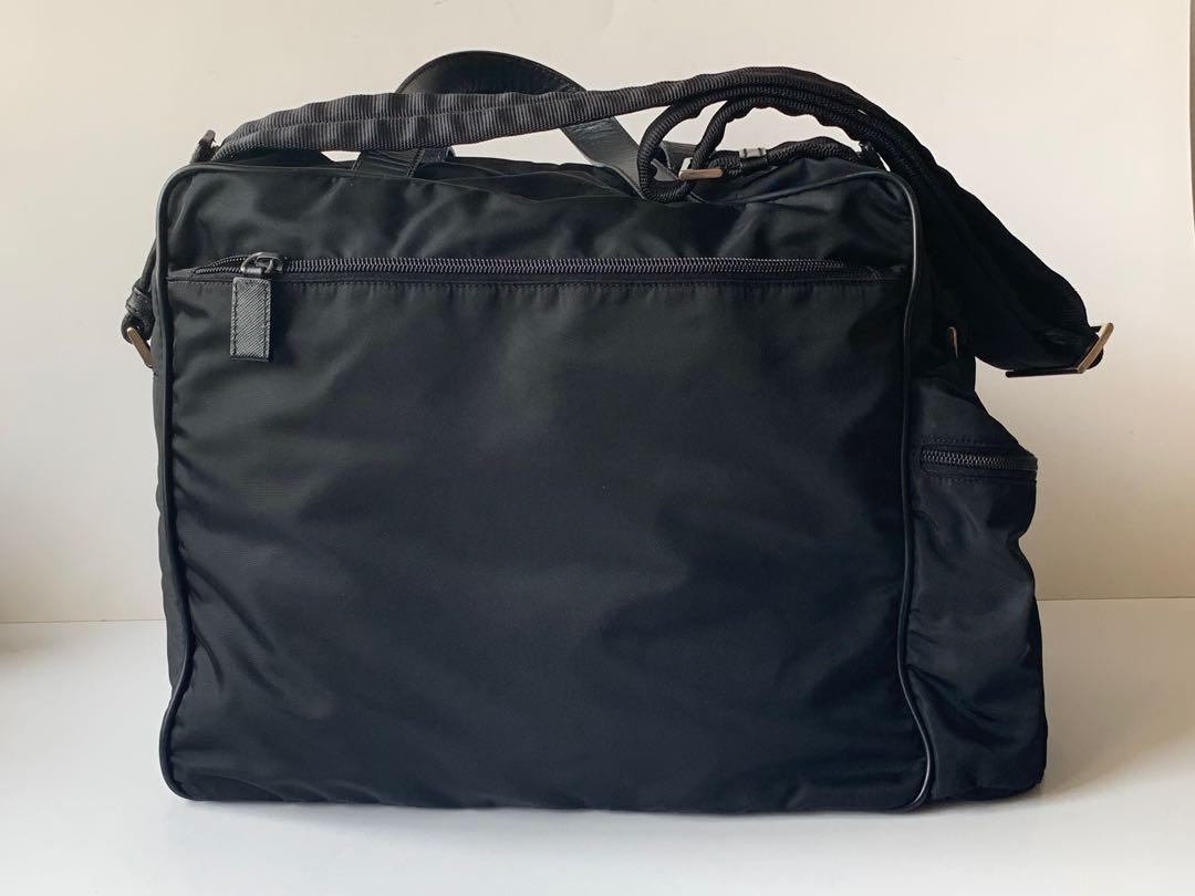 5de63dc5f917 Authentic Prada Large Black Nylon Diaper Bag, Luxury, Bags & Wallets, Sling  Bags on Carousell