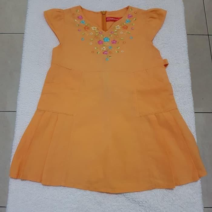 Baju Dress Anak Perempuan HIPOFANT original size L 1-2 Tahun