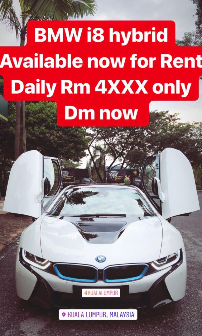 BMW i8 hybrid super car sport car for rent kereta sewa car rental