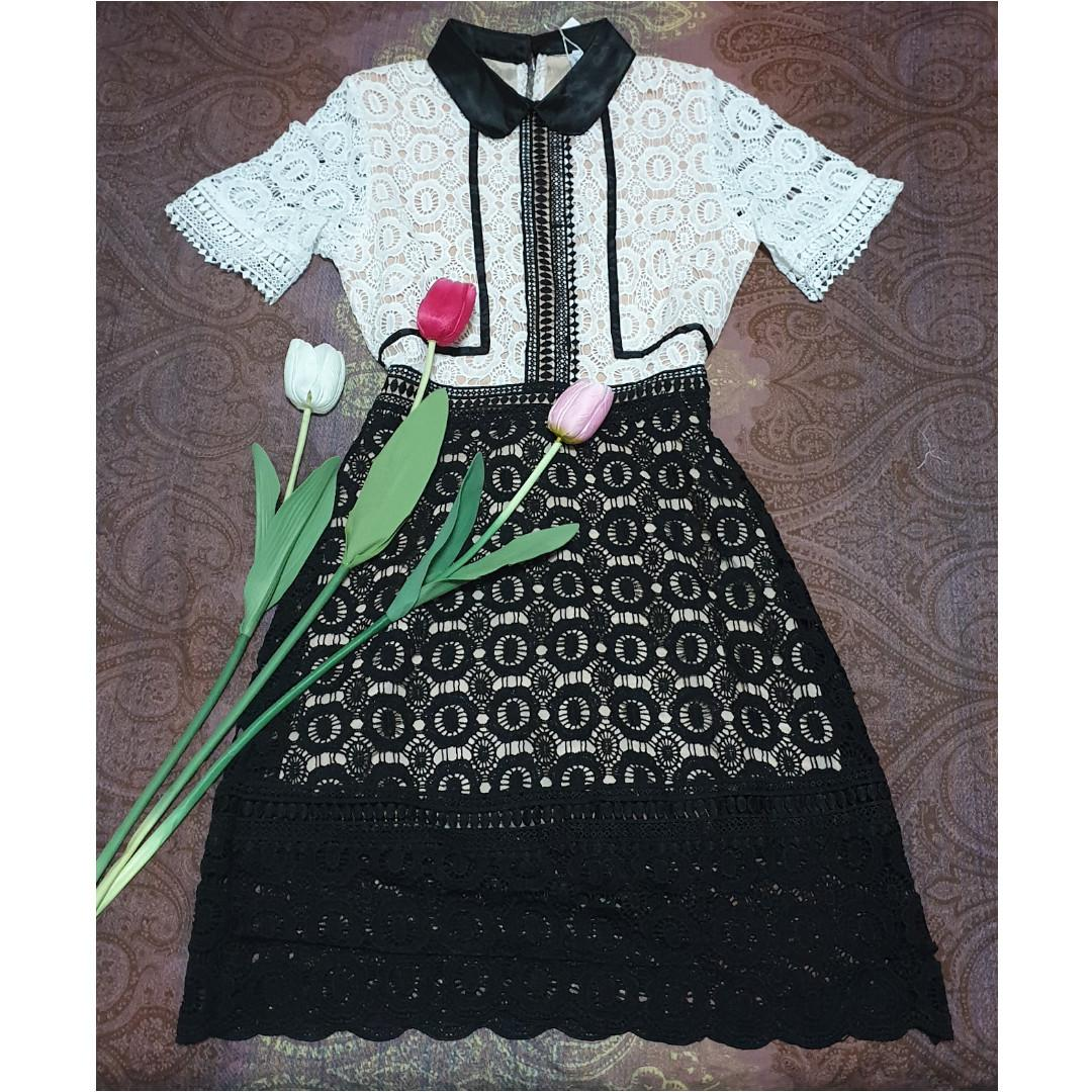Brand New On-Hand Self Portrait Inspired Felicia Lace Dress
