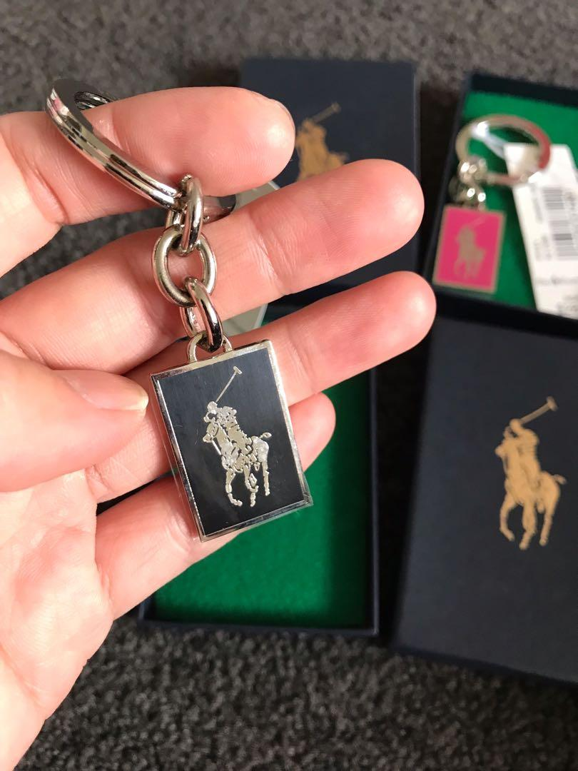 Brand new with tag Ralph Lauren stainless steel keyrings