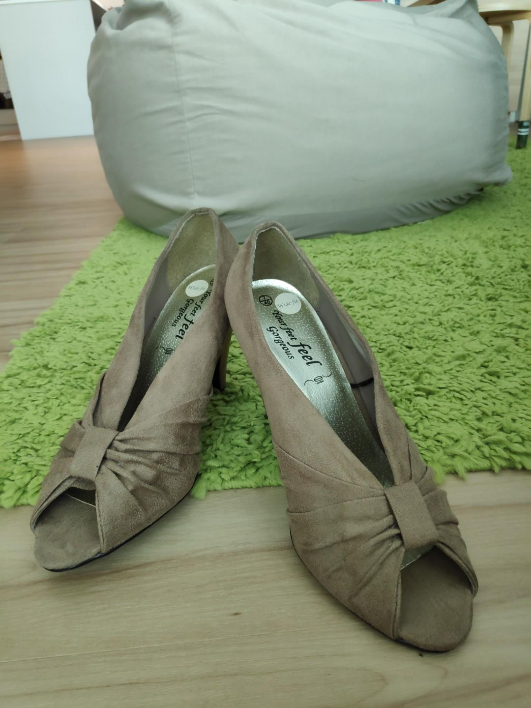 Brown New Look Heels with bow front