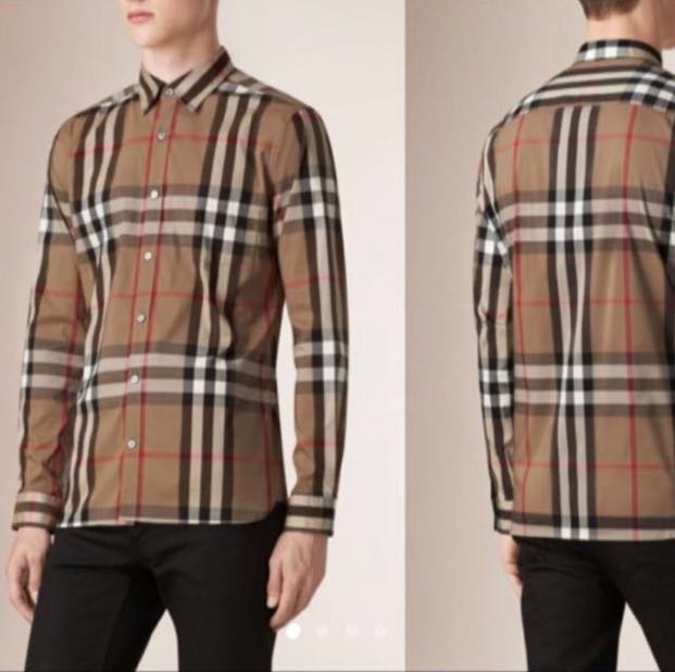 782f8e02 Burberry Brit Long Sleeved Button Up Shirt, Men's Fashion, Clothes ...