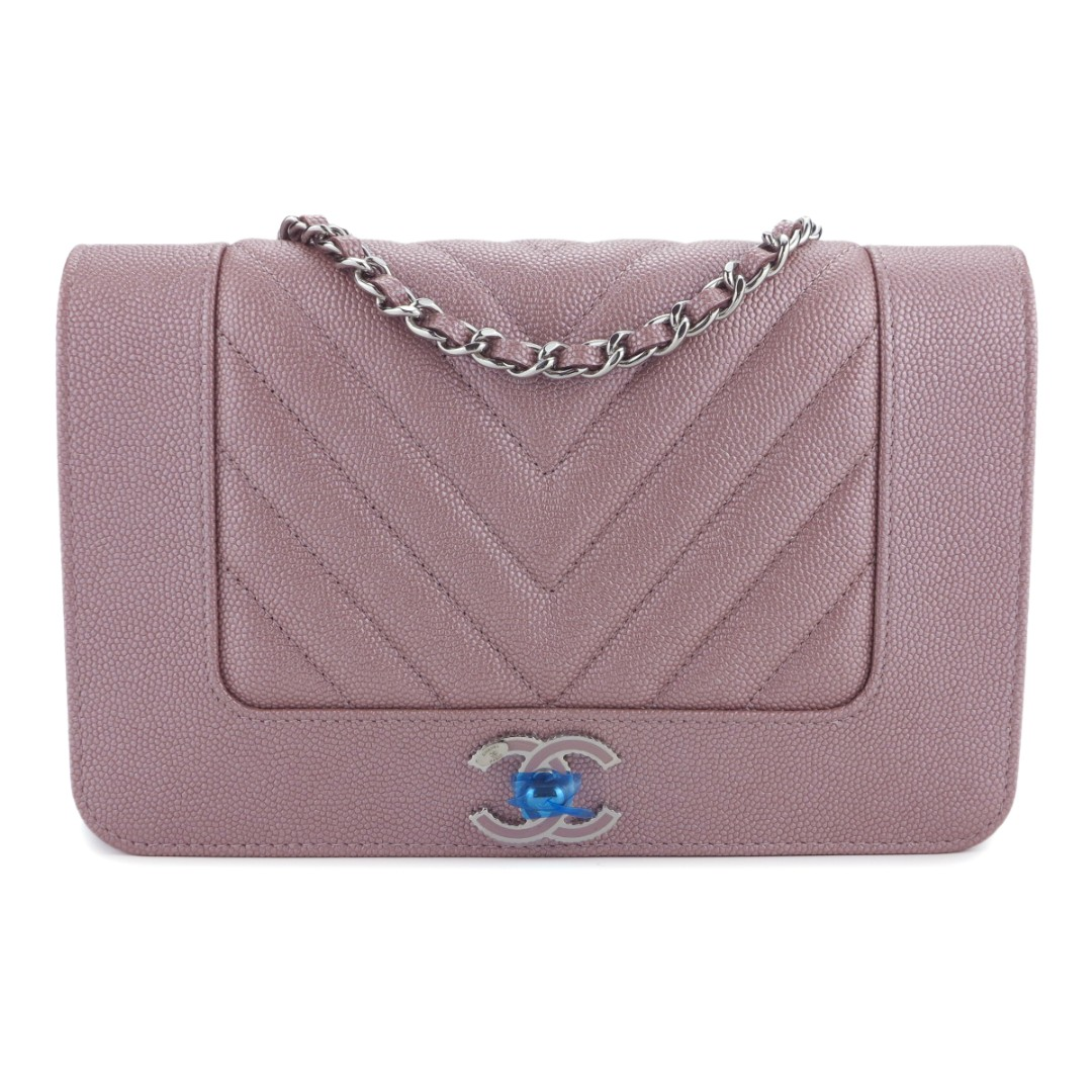 1b0082122cb317 CHANEL Mademoiselle Wallet On Chain WOC in Rose Gold Caviar, Luxury ...