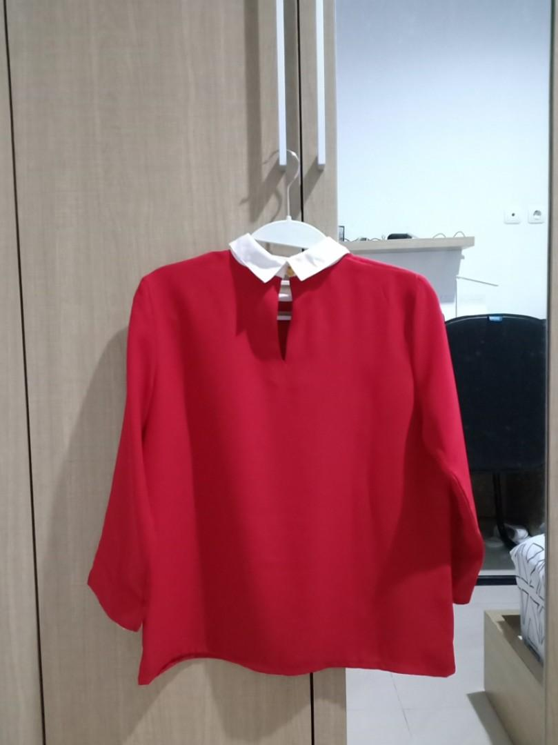 COTTONINK Blouse Merah