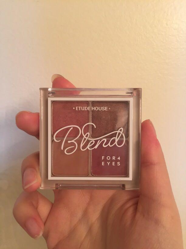 Etude house blend for eyes eyeshadow palette #01 dried rose