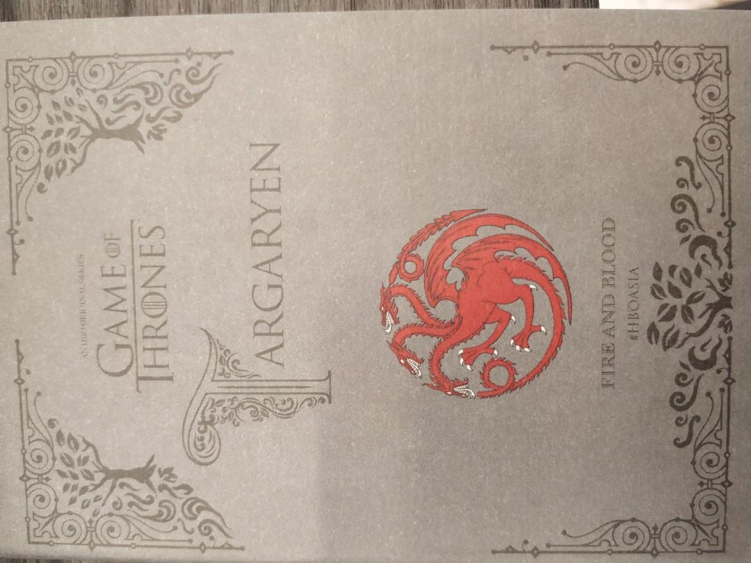 GAME OF THRONES NOTE BOOK FULL SET!