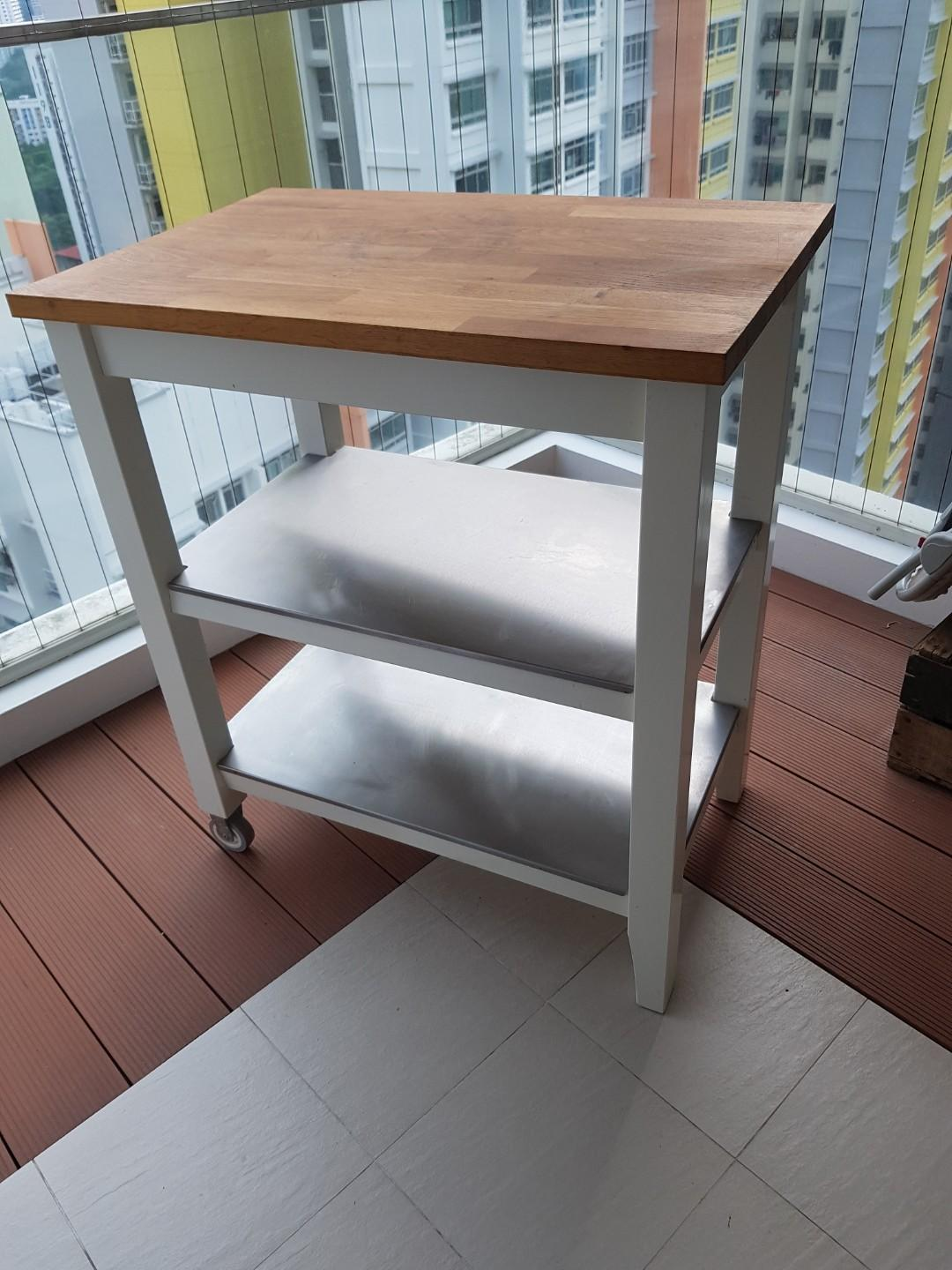 Ikea Island Bench Kitchen Trolley Furniture Home Living Furniture Shelves Cabinets Racks On Carousell