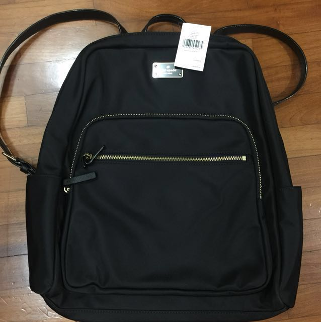 new concept 1e805 aeade Kate spade brand new black large Hilo backpack laptop bag authentic handbag  hand bag haversack with tag attached