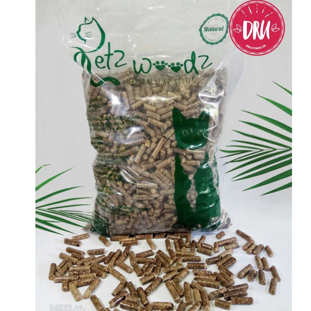 Ketz Woodz Dru = Pasir Kucing Sehat