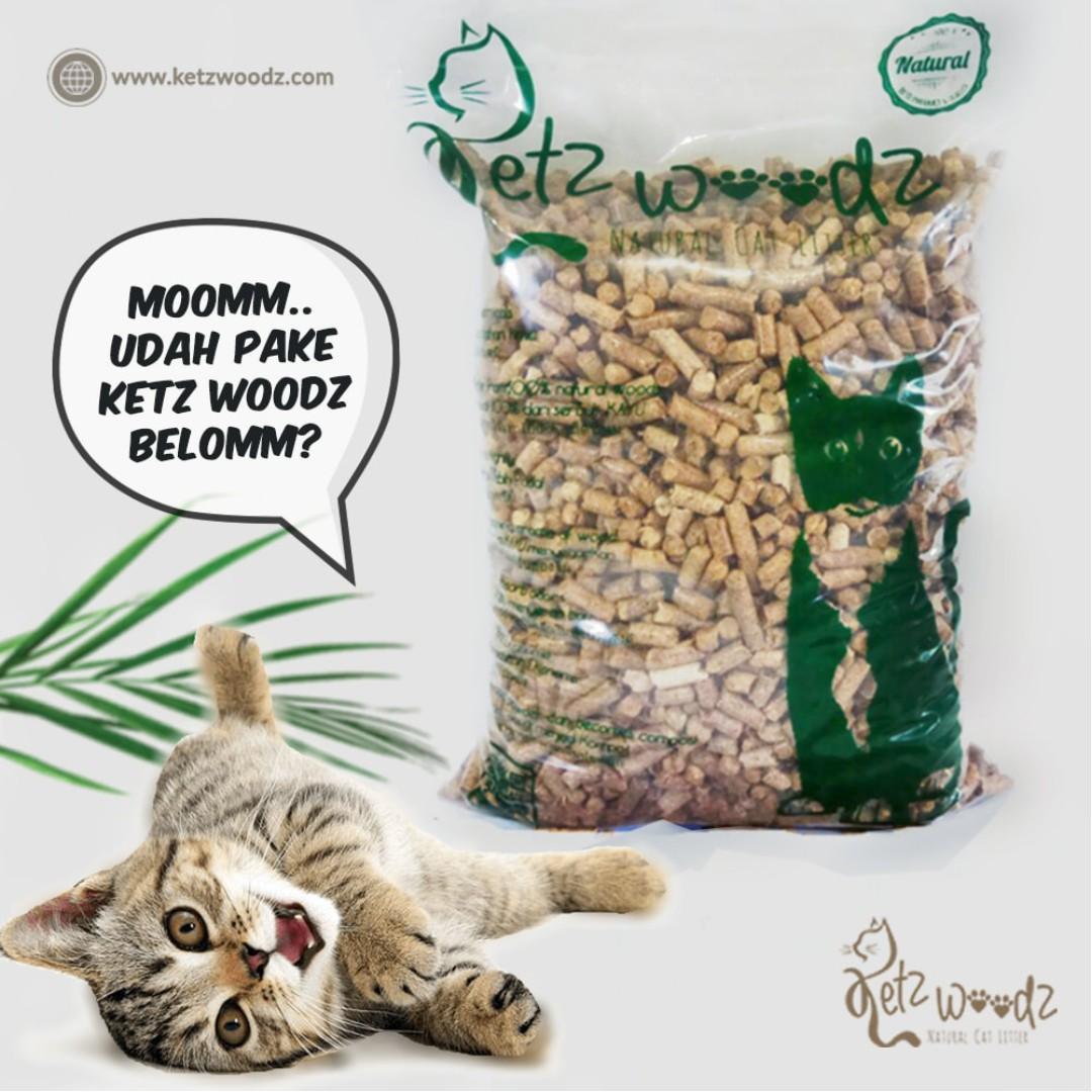 Ketz Woodz Fusta = Pasir Kucing Sehat / Soft pellet