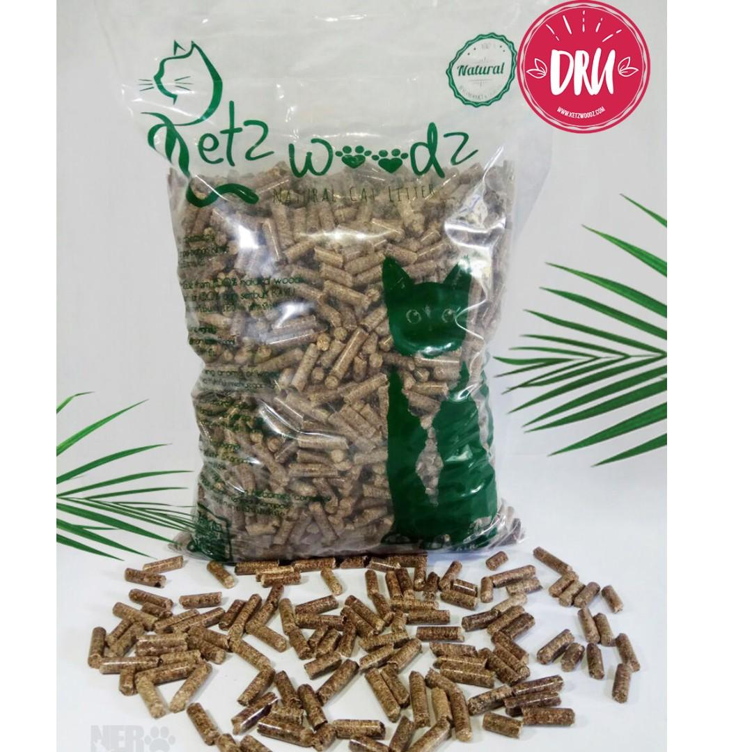 Ketz Woodz KAVA - wood pellet unik dari KOPI = Pasir Kucing