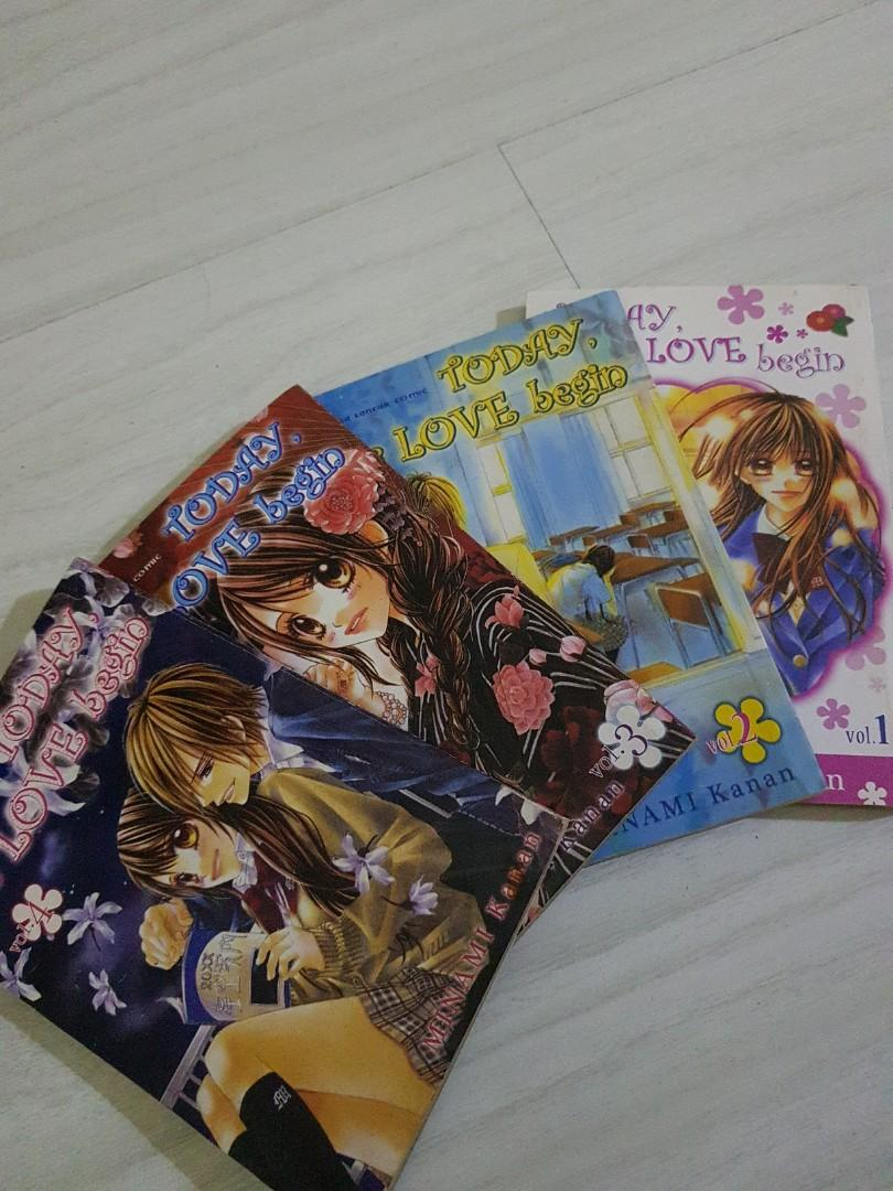 Komik Jepang Today the Love Begin