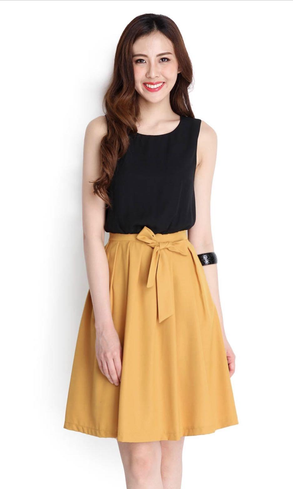 Lilypirates colour symmetry dress in mustard S
