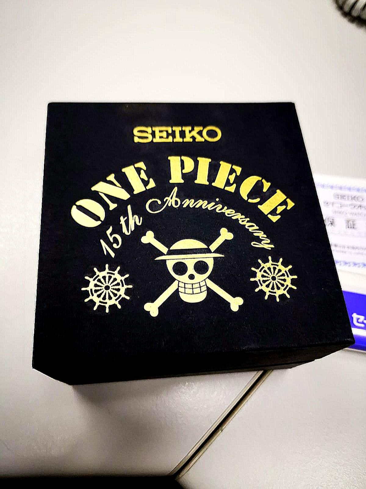 Limited Edition Seiko ONE PIECE  15th Anniversary Official Chronograph Watch Limited Metal Bracelet JAPAN