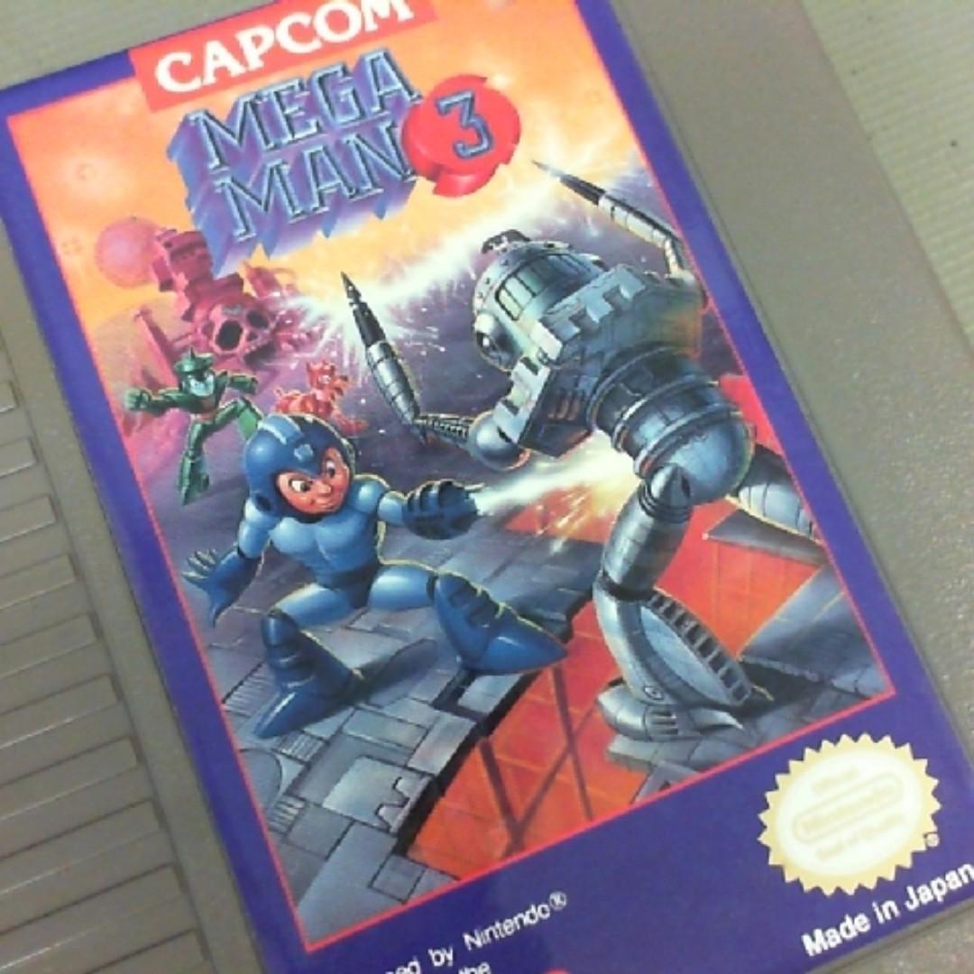 任天堂NES洛克人3卡帶(美規)  CAPCOM
