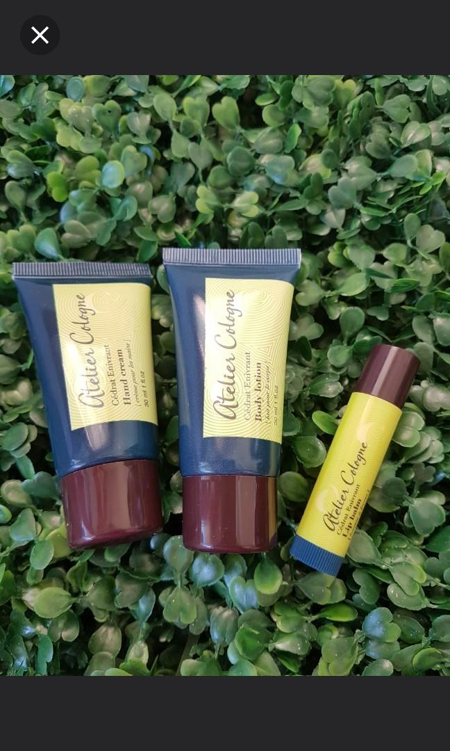 New Atelier Cologne Maison French Set body lotion hand cream lip balm gift