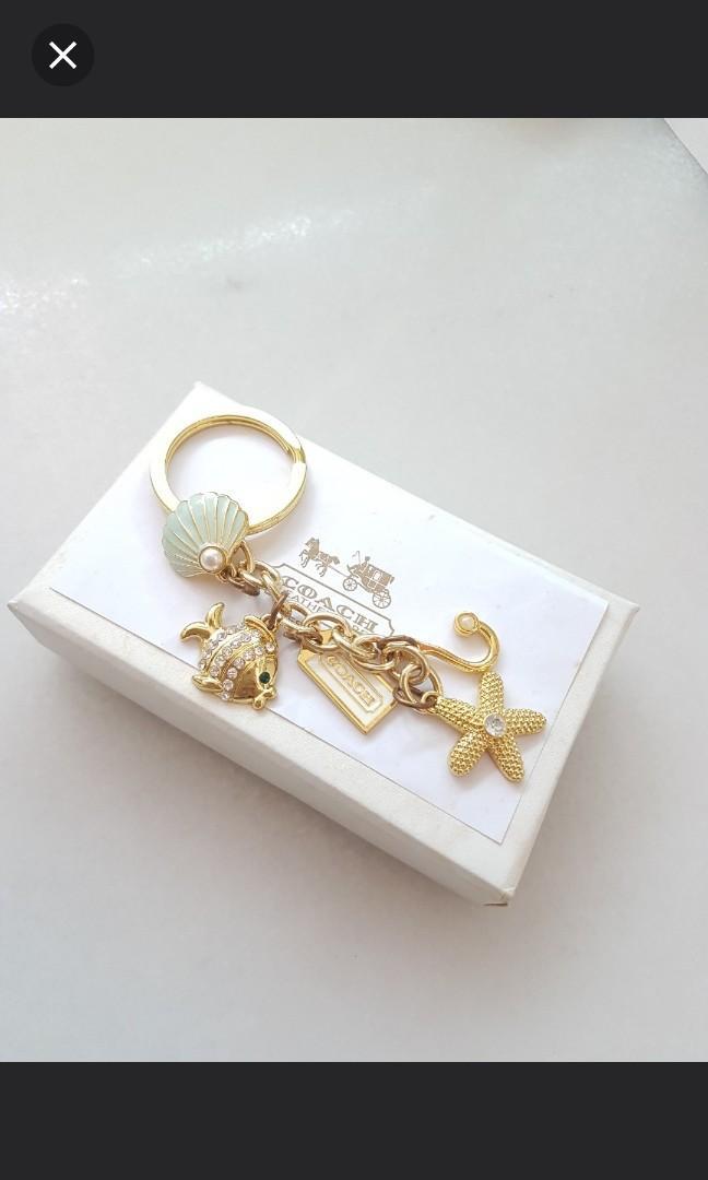 New Coach seashells marine sailor keychain fish anchor