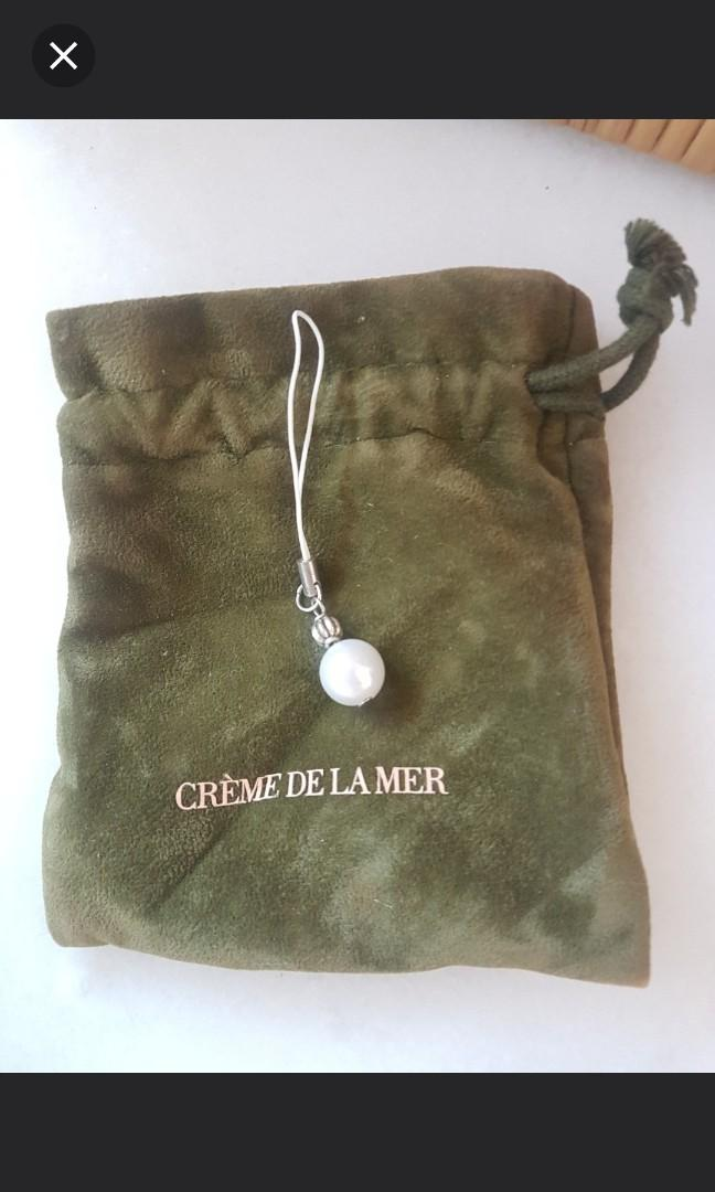 New Creme de la Mer Pearl keychain key ring mobile strap phone
