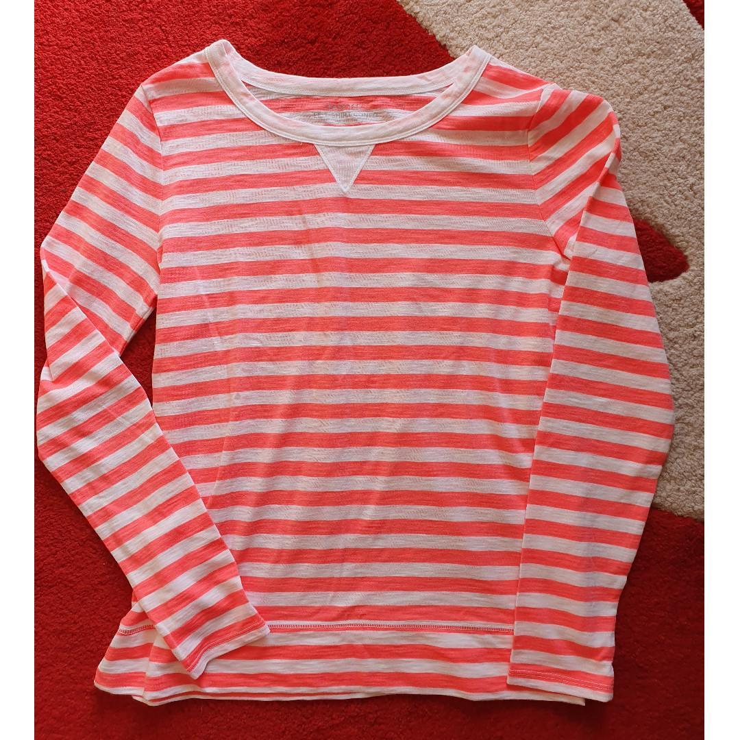 NEW GAP Women Esy Tee Striped Long Sleeves T Shirt Confo