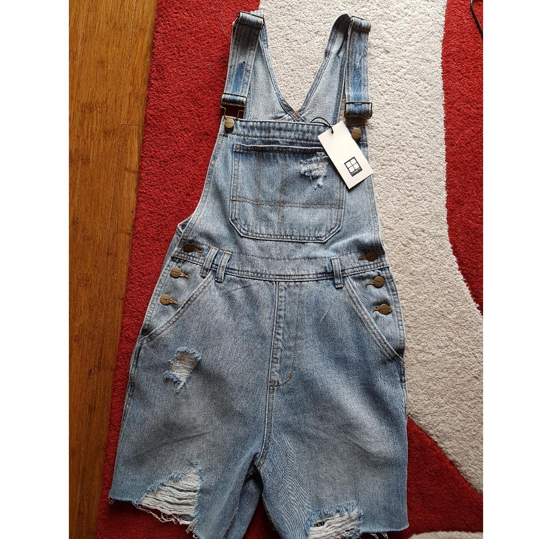 NEW with tag Women Insight Wanda Playsuits Short Overalls BlueTide