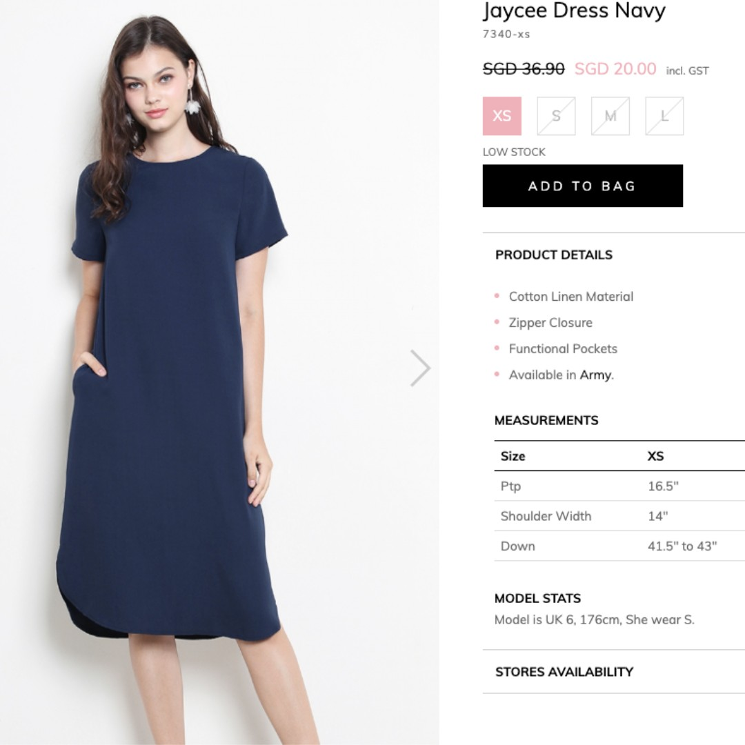 d778f51b84 NEW XS Navy Blue Cotton Linen Midi Dress (Jaycee) ShopSassyDream, Women's  Fashion, Clothes, Dresses & Skirts on Carousell