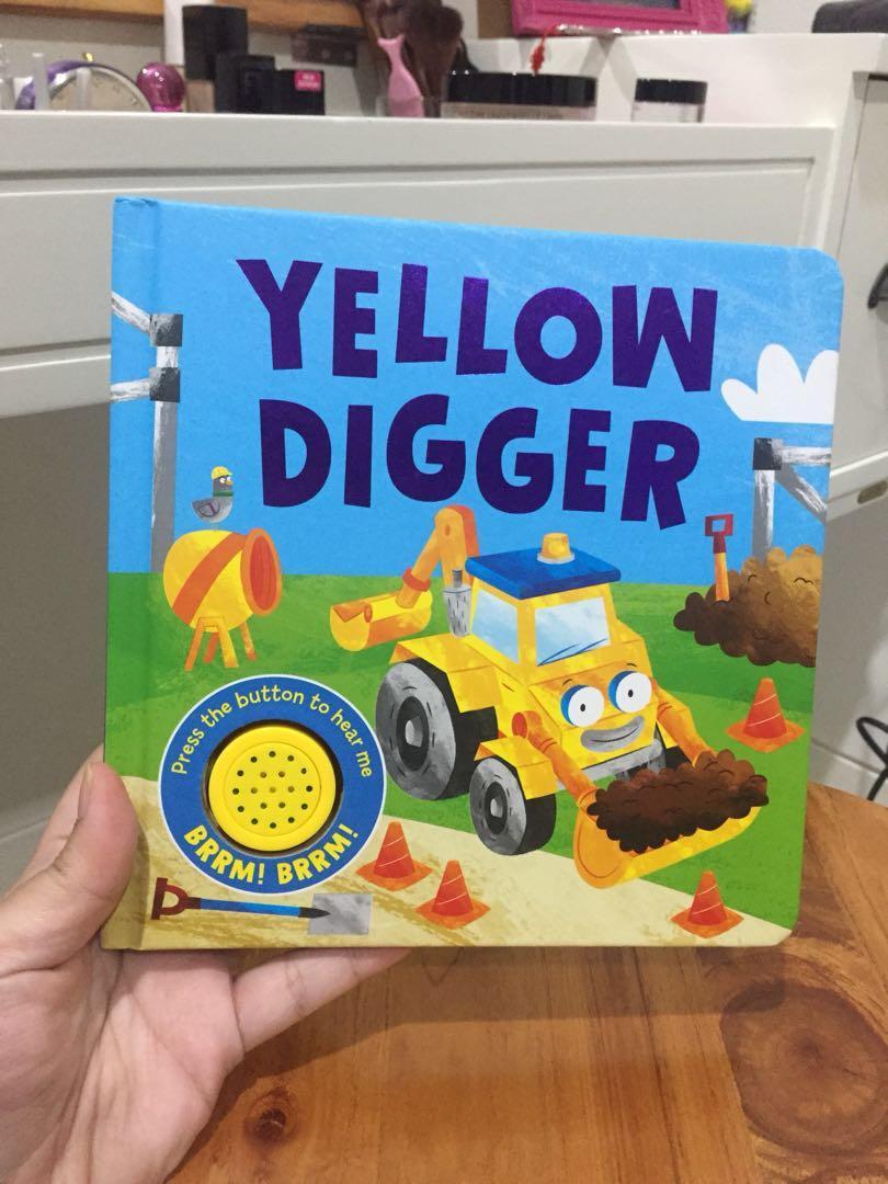 Preloved BOOK - SOUND BOOK buku bayi/anak Yellow Digger