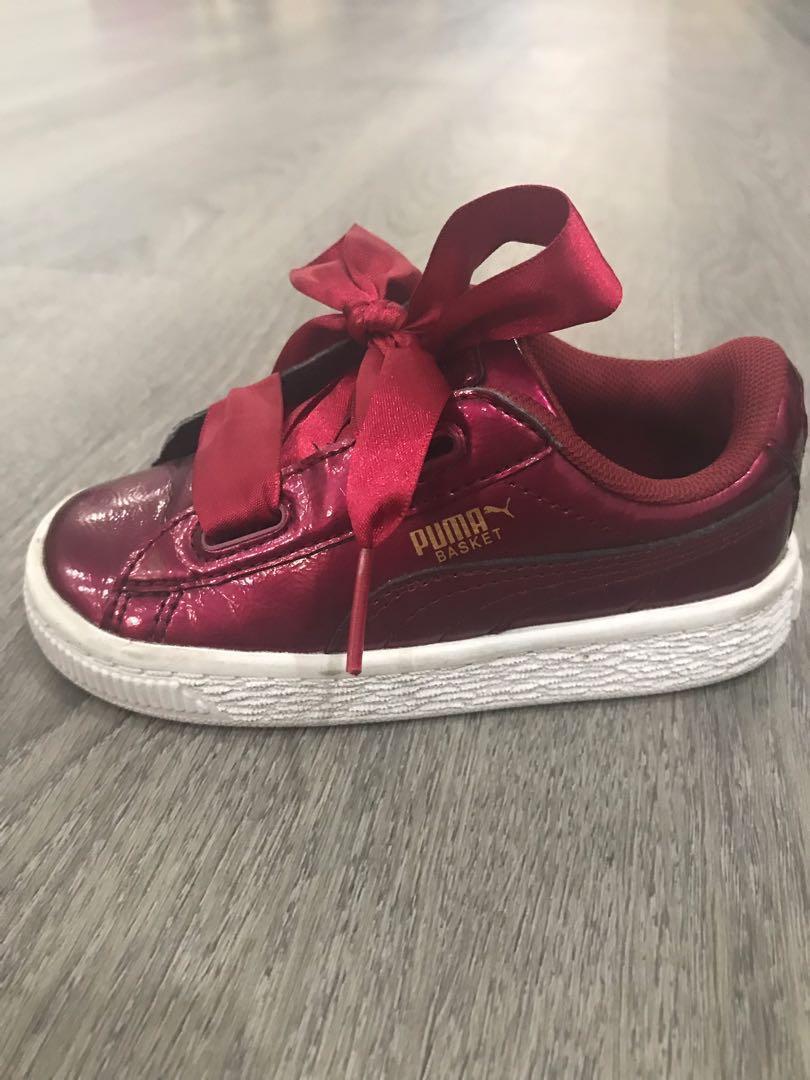 PUMA Basket Heart Glam Kids Sneakers
