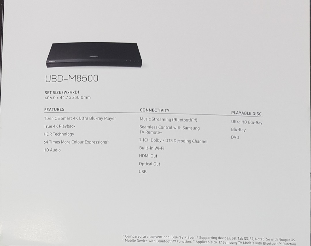 Samsung 4k UHD Smart player for sale