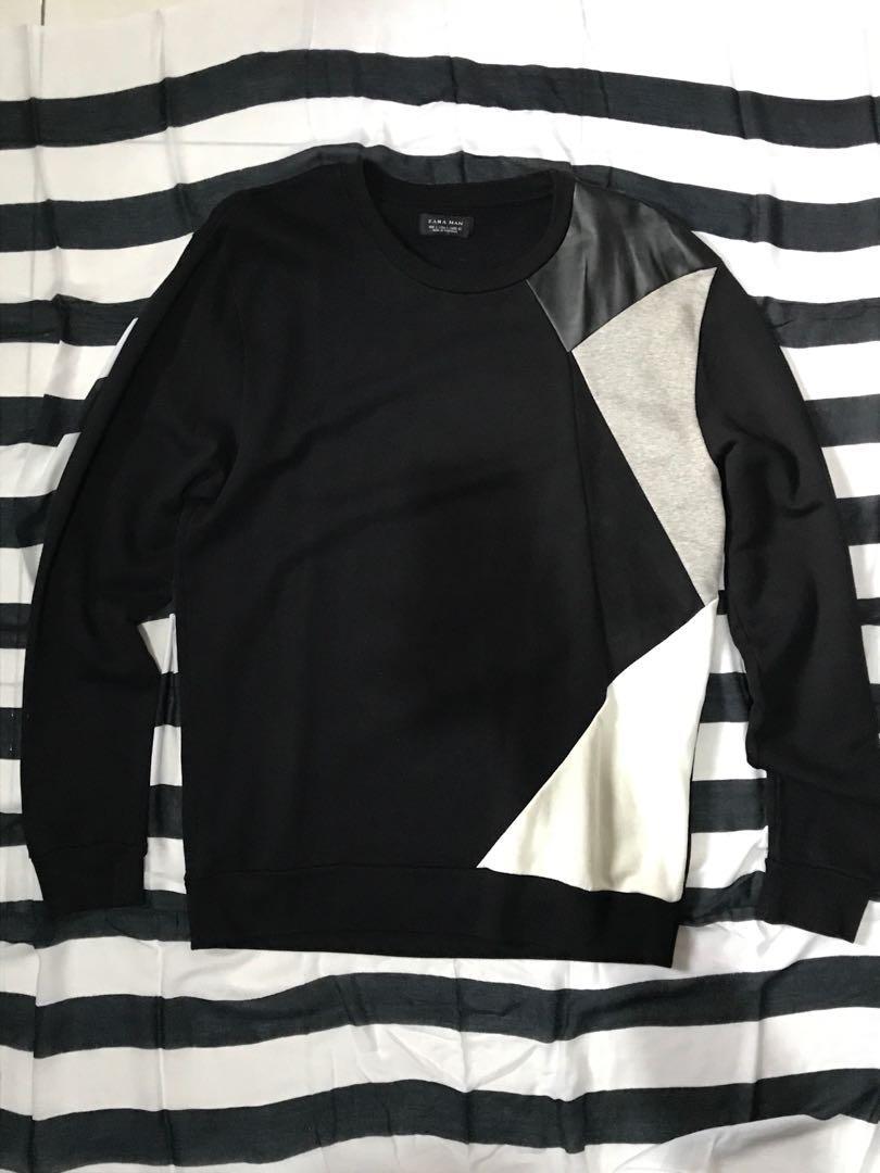 Sweatshirt Geometric Black ZARA MAN