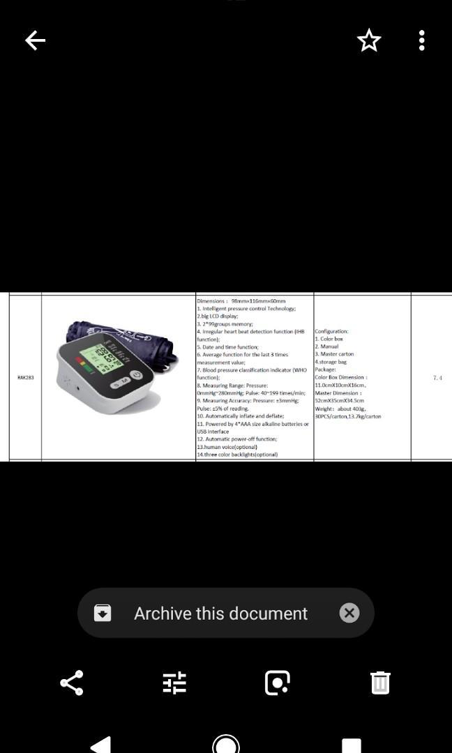 Szkia Pressure Monitor with Armcuff