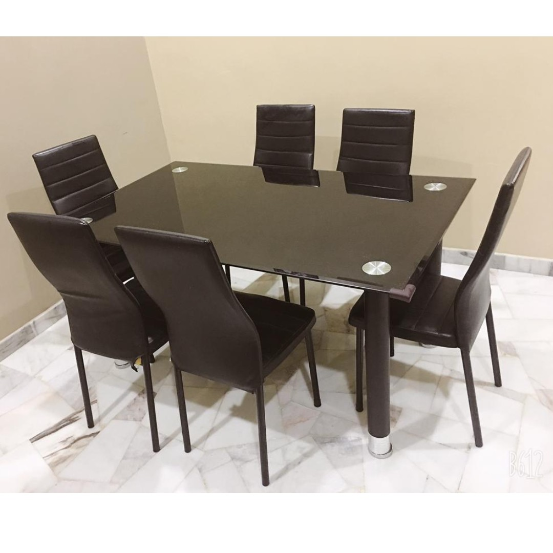 Tempered Glass Dining Table Solid Wooden Dining Table Sale
