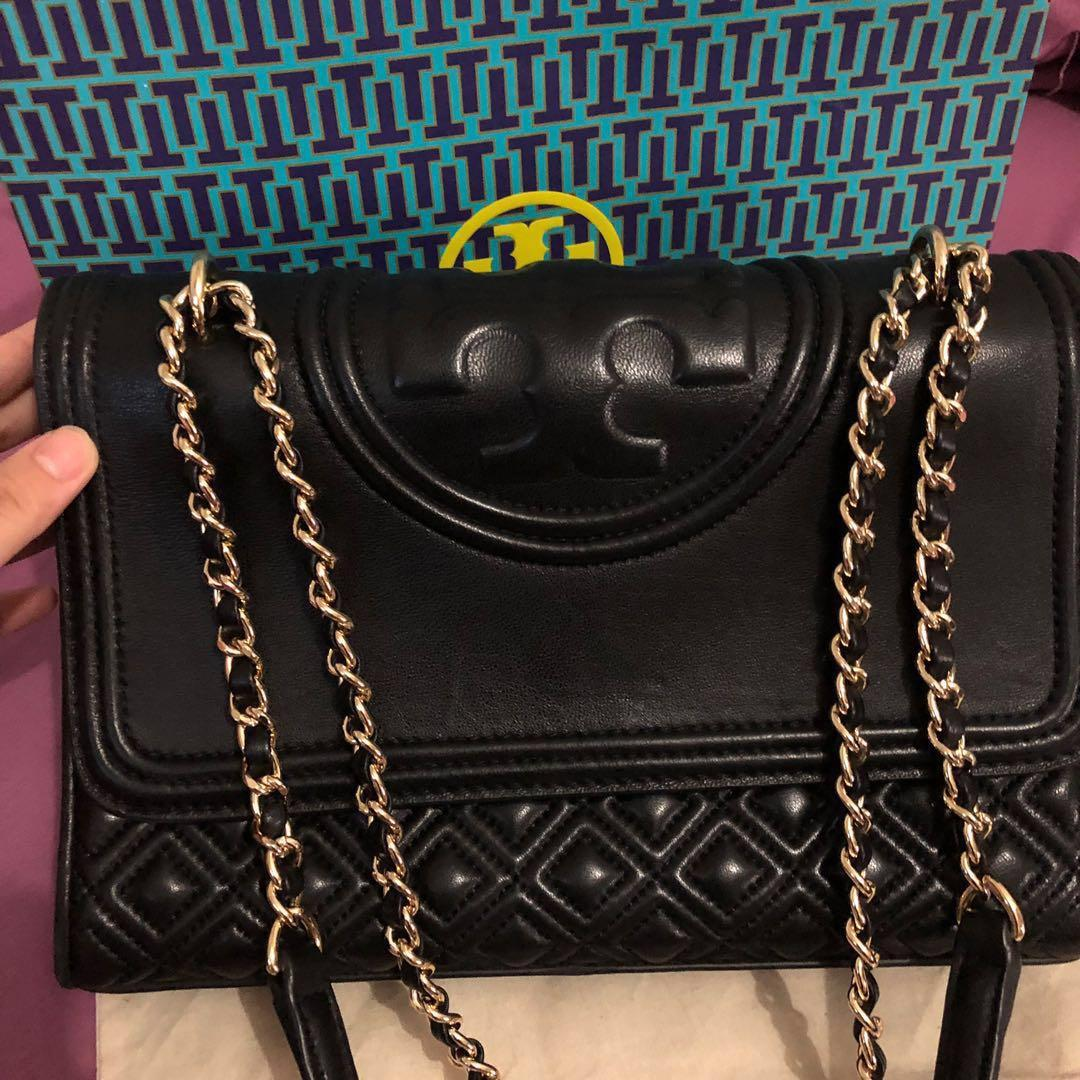 Tory burch Fleming large convertible black