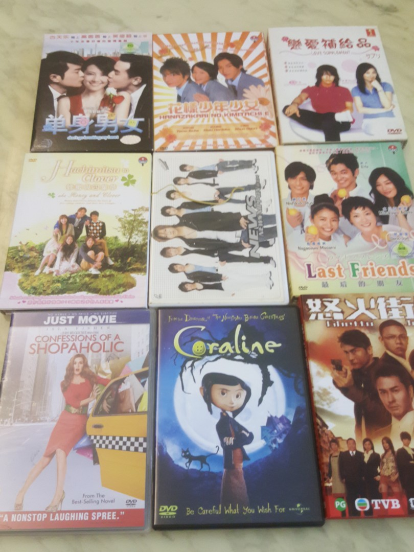Used DVD for English Chinese Korean Drama going for FOC
