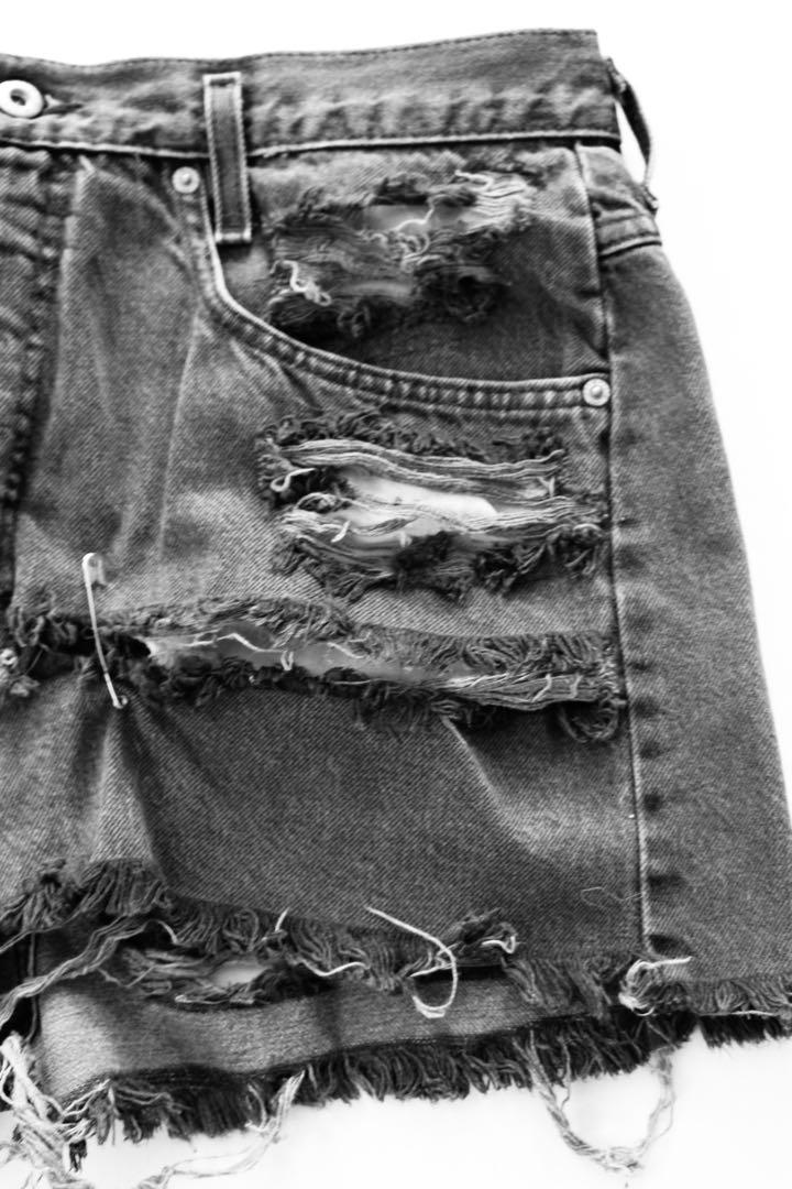 "Vintage ""Hollywood"" Ripped High-Waisted Denim Shorts"
