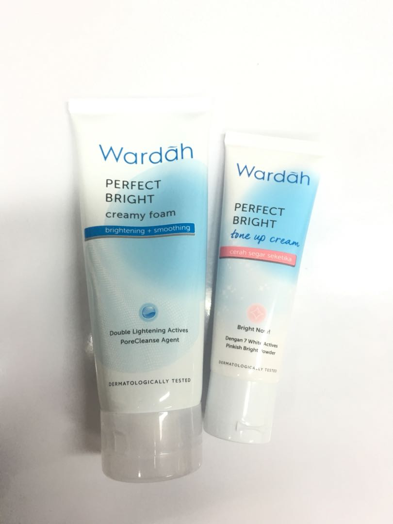 Wardah Perfect Bright creamy foam and tone up cream